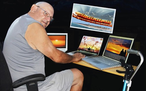 Artwork with multiple-Mac-computers by Richard Mann