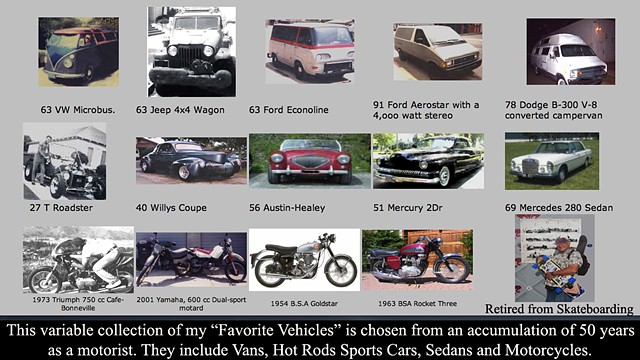 """Favorite Vehicles"" and a link to my ""Favorites at: *