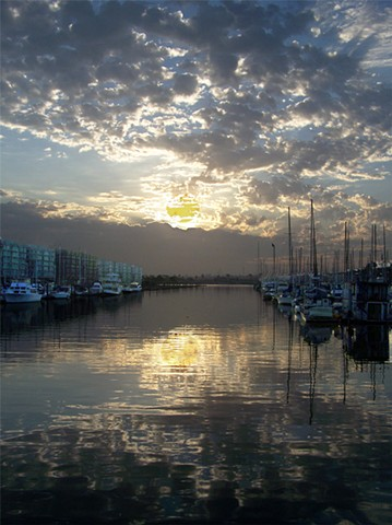 Marina del Rey California winter sunrise