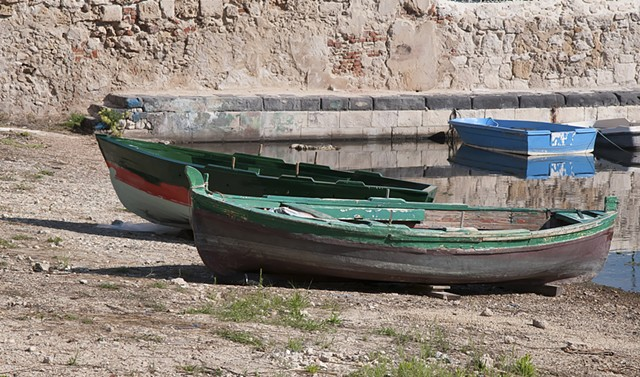 Beached boats