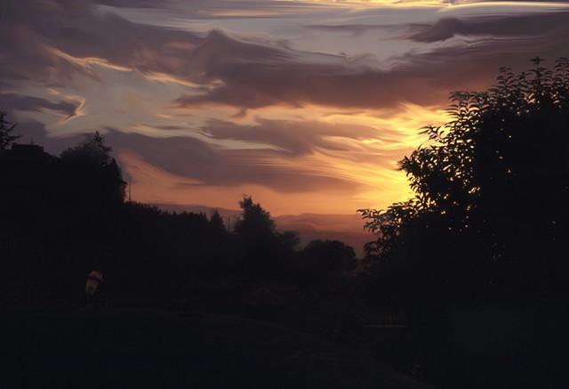 un tramonto umbriano