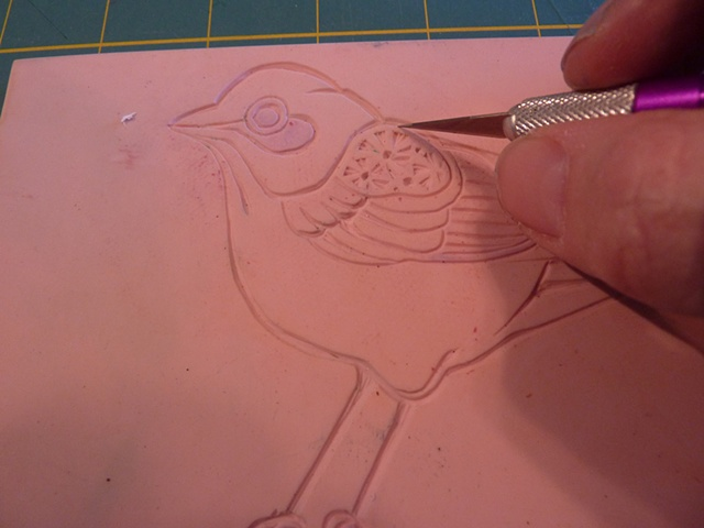 carving a stamp