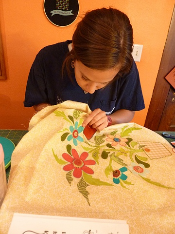 adding hand embroidery