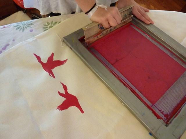Printing a bird stencil