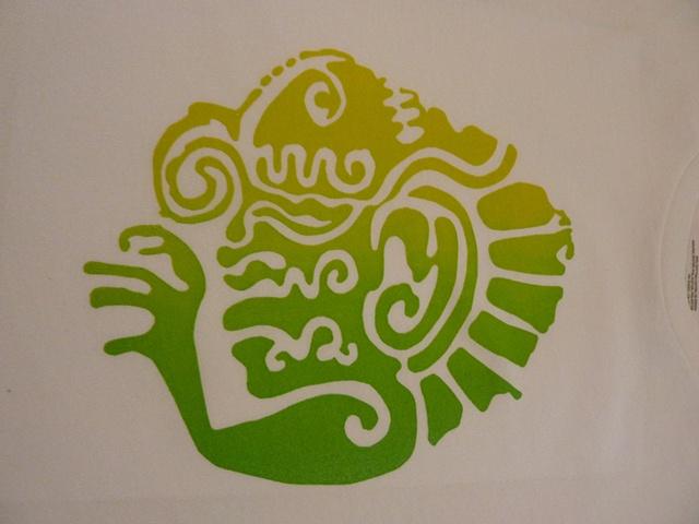 Yen's ombre-effect stencil print.