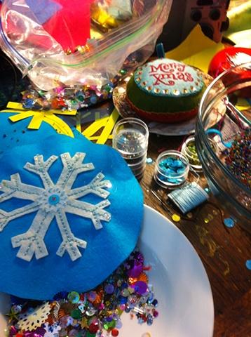 Making ornaments is a glittery blast!