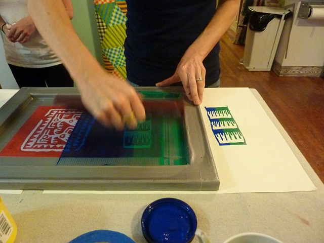 Christy printing with two colors of ink.
