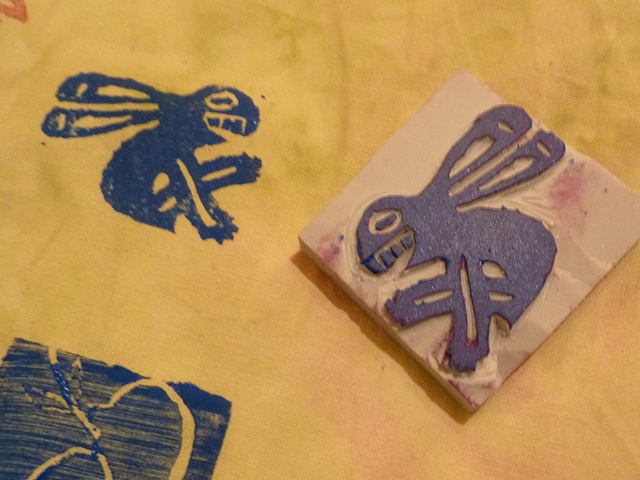 Leonor's precolumbian bunny stamp