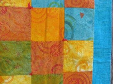 """""""citrus"""" quilt, detail"""