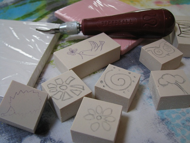 Stamps in the making