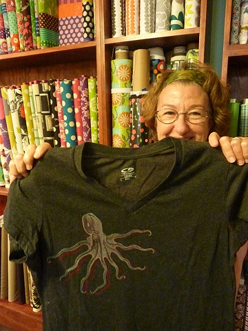 Teresa's fab double octopus t-shirt!