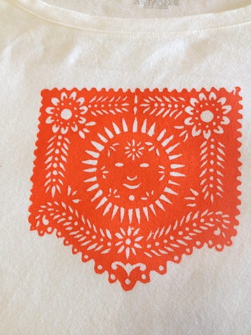 Donna's lovely papel picado design, on a tee.