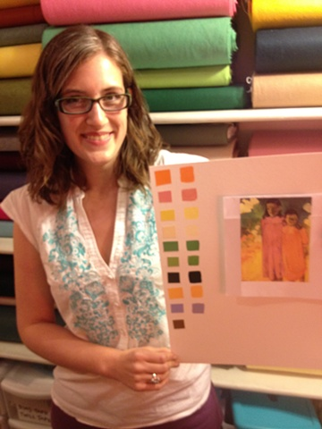 Maggie worked with a Gauguin print.