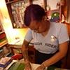 Diana, stamping.