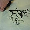 Margaret's bird-on-branch print.