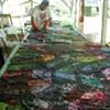 silkscreening thickened dye at the Artport