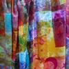 viscose rayon, dye, screenprinting