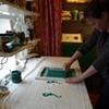 Kate printing a stencil