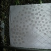 freezer paper resist applied to white cotton...
