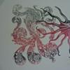 multicolor psychedelic octopus