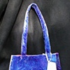 purse sewn from dyed silk/rayon velvet