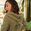 Lauren rocks her new custom hoodie.