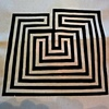 Nancy printed this labyrinth from her stencil.  Verrry carefully. . .