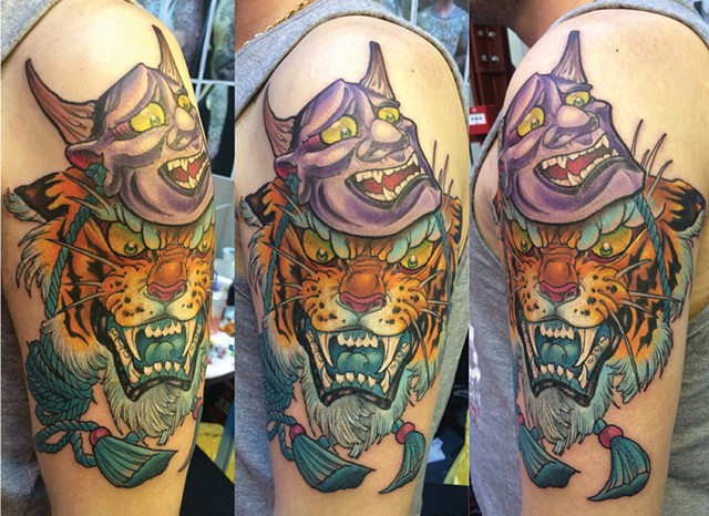 tiger hannya tattoo