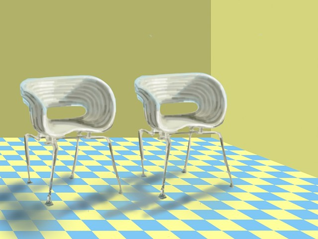 Two White Chairs