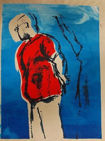 Julian, 2012; Silkscreen monoprint (framed)