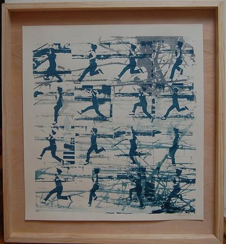 ...For the trees (2014); Silkscreen in handmade artist frame