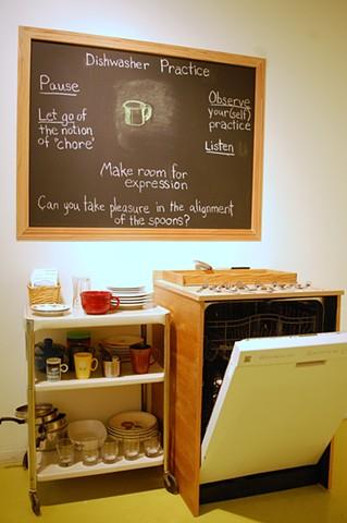 Dishwasher Practice, Installation 2, Hyde Park Art Center