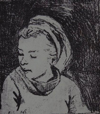 Zoe, quiet, 2015; Paper Litho Print
