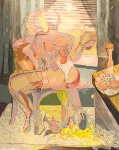Hybrid Female Figure Acrylic Painting Contemporary Art