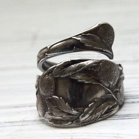 Long Beach Souvenir Spoon Ring, Sterling Silver (Sold)
