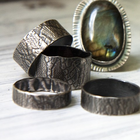 Lace Rings, Labradorite Ring, Ocean Jasper Ring (Sold)