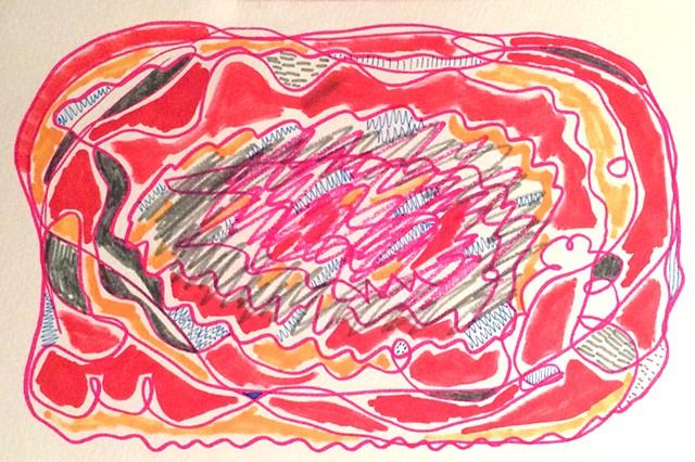 Scribble Drawing Process : Fredricka brooks artist