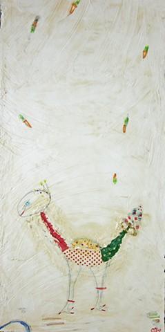 I am the Egg Man. Watercolor fresco. o*Live. o-Live. oliveland