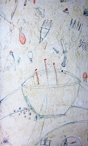 Watercolor fresco. tea cup painting. abstract. illustration. o*Live. o-Live. oliveland
