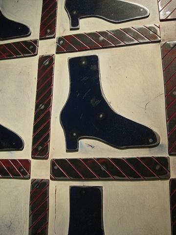 Practically Patriotic Shoe Quilt, Detail