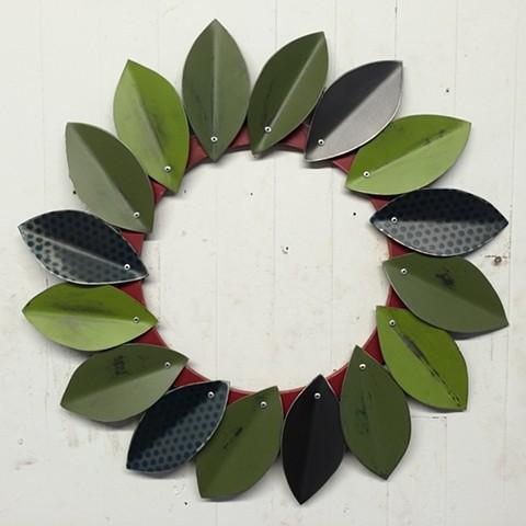 Polka Dot Leaf Wreath