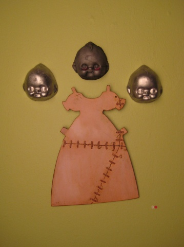 Flat Back Baby Heads & Stitched Doll Dress