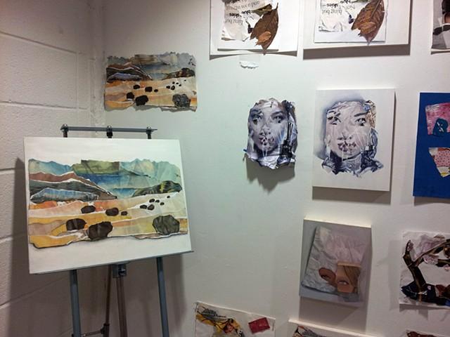 Trompe l'oeil oil painting projects