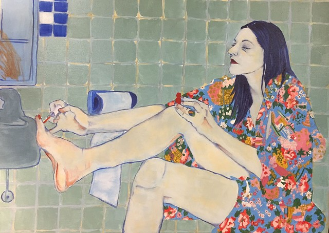 Color study with primary colors (after Hope Gangloff)