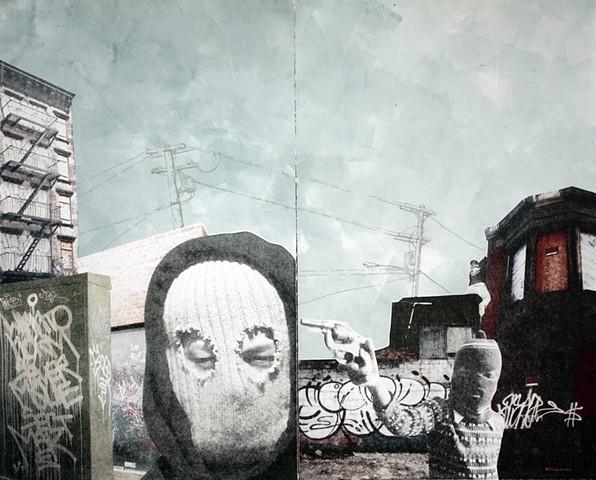 Monoprint collage transfer