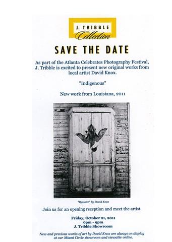 Opening invitation; J, Tribble, Indigenous, Atlanta, GA
