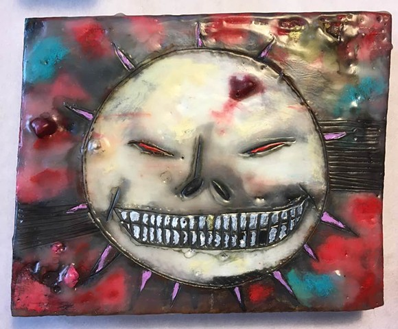 Mexican Sun Encaustic Zoo Series 25% going to Buffalo Cares Rescue SOLD