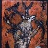 Karaoke Deer Encaustic Zoo Series