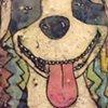 Pittie Love Encaustic Zoo Series