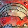 Red Sky Moon Encaustic Zoo Series 100% going to Buffalo Cares Rescue